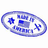 Made In America rubber stamp