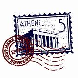 Vector illustration of stamp or postmark style grunge