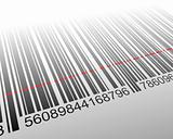 Vector illustration of barcode with laser effect