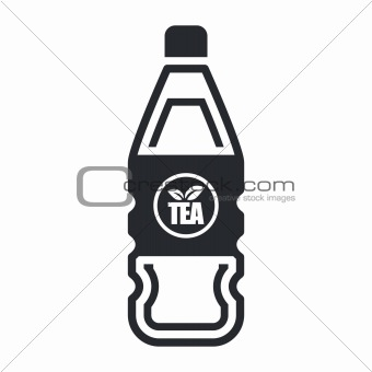 Vector illustration of single isolated tea bottle