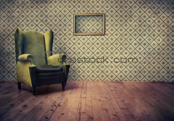 Old fashioned armchair