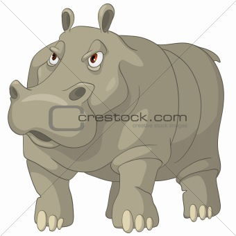 Cartoons_0043_Hippopotamus_Vector