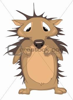 Cartoons_0040_Hedgehog_Vector