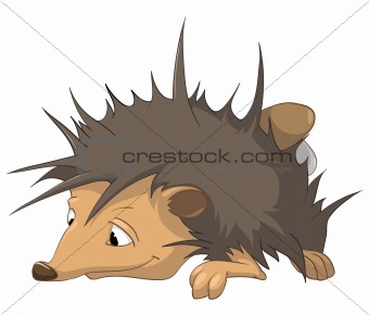 Cartoons_0041_Hedgehog_Vector