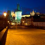 on Charles bridge, Prague, Czech Republic