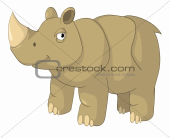 Cartoons_0074_Rhino_Vector