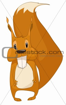 Cartoons_0084_Squirrel_Vector