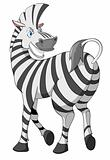 Cartoons_0092_Zebra_Vector_