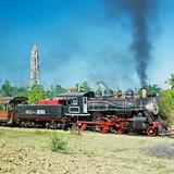 tourist train Valle de Los Ingenios, Manaca Iznaga, Sancti Spiritus Province, Cuba