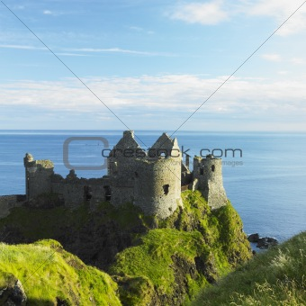 ruins of Dunluce Castle, County Antrim, Northern Ireland