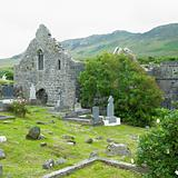 ruins of Murrisk Abbey, County Mayo, Ireland