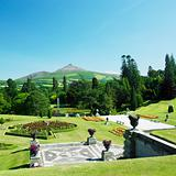 Powerscourt Gardens, Sugar Loaf Mountain at the background, County Wicklow, Ireland