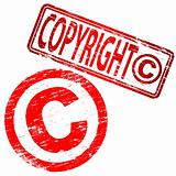 Copyright rubber stamps