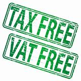 Tax Free and VAT  Free rubber stamps
