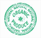 Organic Produce rubber stamp