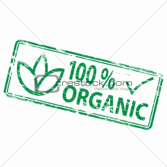 100 Percent Organic rubber stamp
