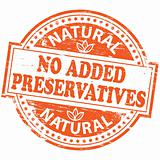 No Added Preservatives rubber stamp