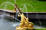 Fountains in Petergof park. Fountains Samson