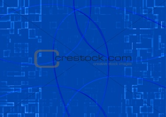 abstract background of mosaic blue tiles