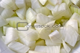 Pieces of white onions