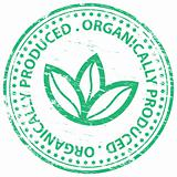 Organically Produced rubber stamp
