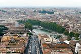 Panoramic view at the Rome