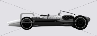 vector racing sports car concept in retro style