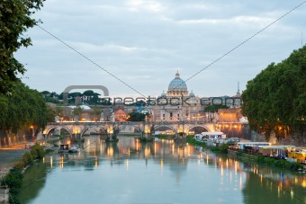 Angelo bridge and St. Peter's Basilica