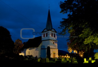 church, Nes, Norway