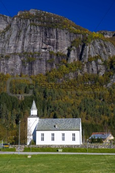 church, Ovre Sirdal, Norway