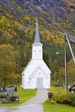 church Jostedal, Norway