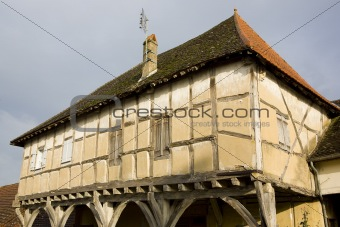 wooden house from the 15th century, Mervans, Burgundy, France