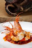 plated prawn