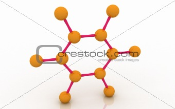 Molecular structure of benzene