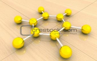 Molecular structure of benzene