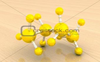 molecular model of butane