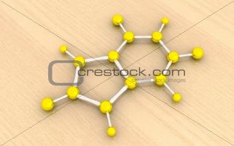 molecular model of uric acid