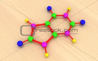 molecular model of uric acid