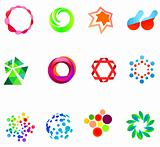 12 colorful vector symbols: (set 21)