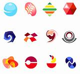12 colorful vector symbols: (set 22)