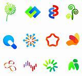 12 colorful vector symbols: (set 23)