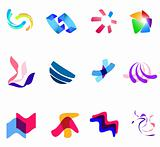 12 colorful vector symbols: (set 27)