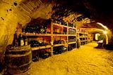 wine cellar, Bily sklep rodiny Adamkovy, Chvalovice, Czech Republic
