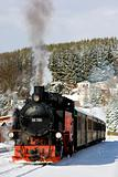 steam train, Oberwiesenthal - Cranzhal (Fichtelbergbahn), Germany