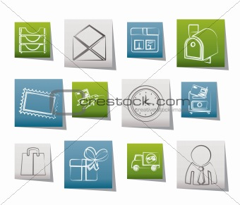 Post, correspondence and Office Icons