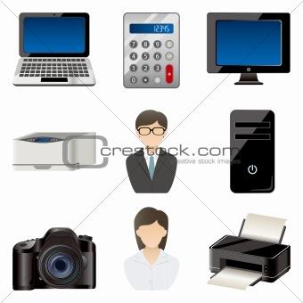 Office item icons set