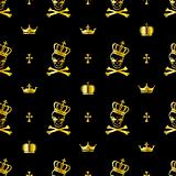 Seamless skull pattern