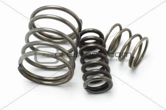 Three old metal springs