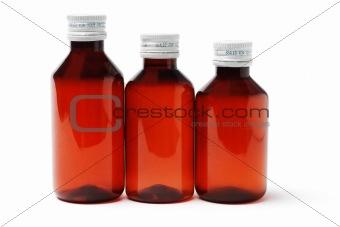Three sealed medicine bottles