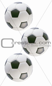 Three soccer balls